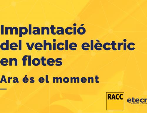 Acuerdo RACC-Etecnic para hacer más sostenibles las flotas de vehículos